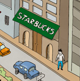 Hiding By Starbucks