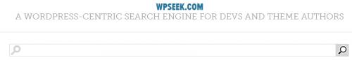 WPseek.com Frontpage