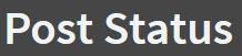 Post Status Logo
