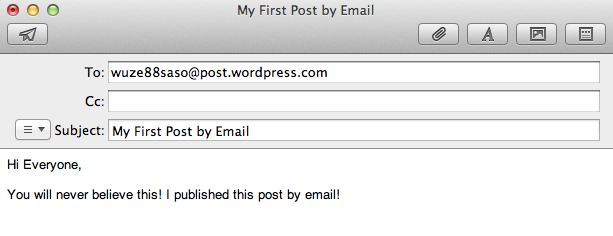 Post By Email In Jetpack