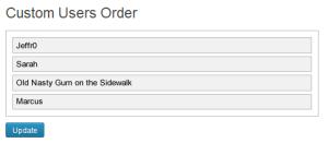 Custom User Order