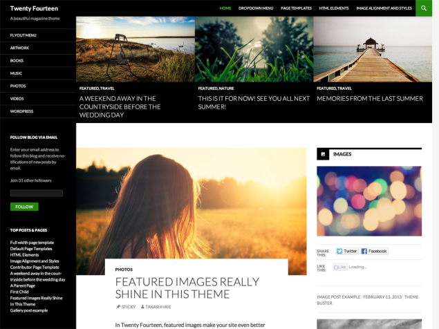 WordPress Twenty Fourteen Theme Is Out in the Wild