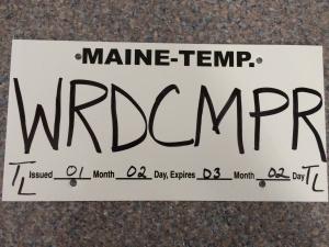 WordCamp License Plate