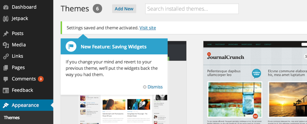 Quick Tip: WordPress Saves Your Widgets