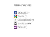 Category List Icons