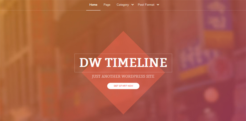 DW Timeline: A Free WordPress Theme With a Unique Layout