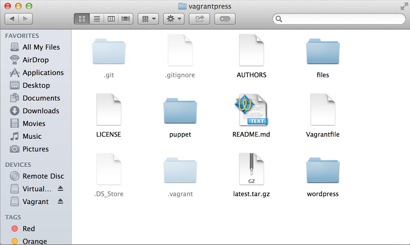 vagrantpress-directory