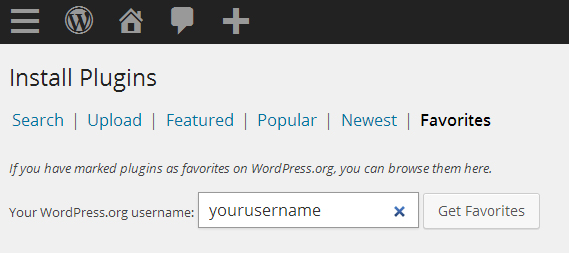 wordpress-plugin-favorites