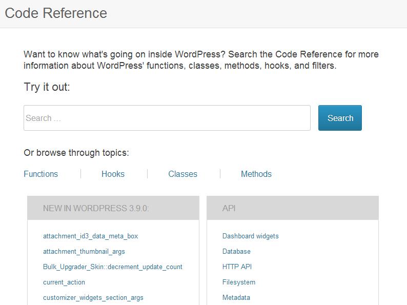 wordpress-code-reference