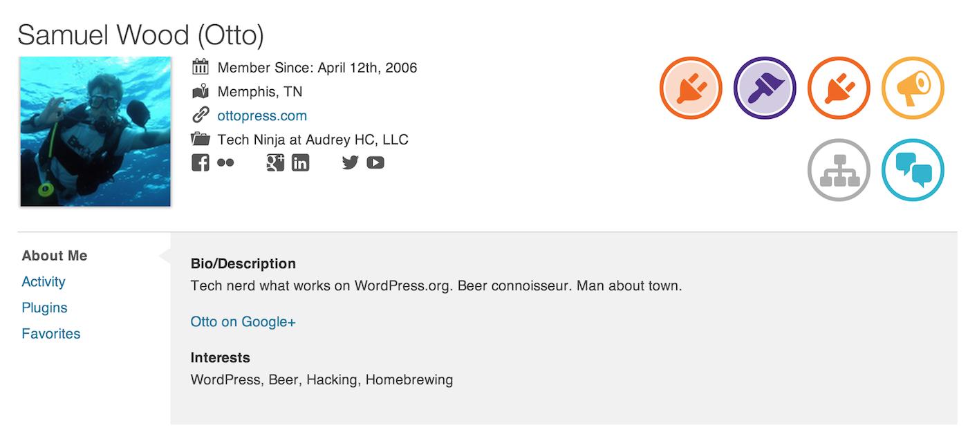 wordpress-profile