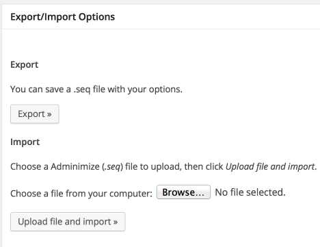 Import Export Of Options