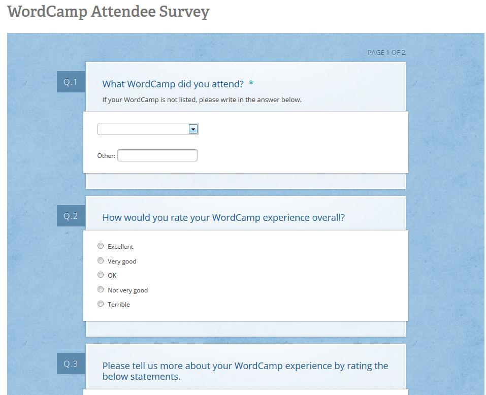 Proposed Survey Questions
