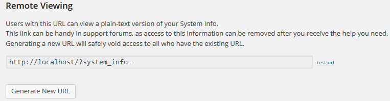 Creating A Unique URL To View System Info