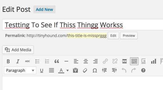 Post Title Spell Checking Plugin