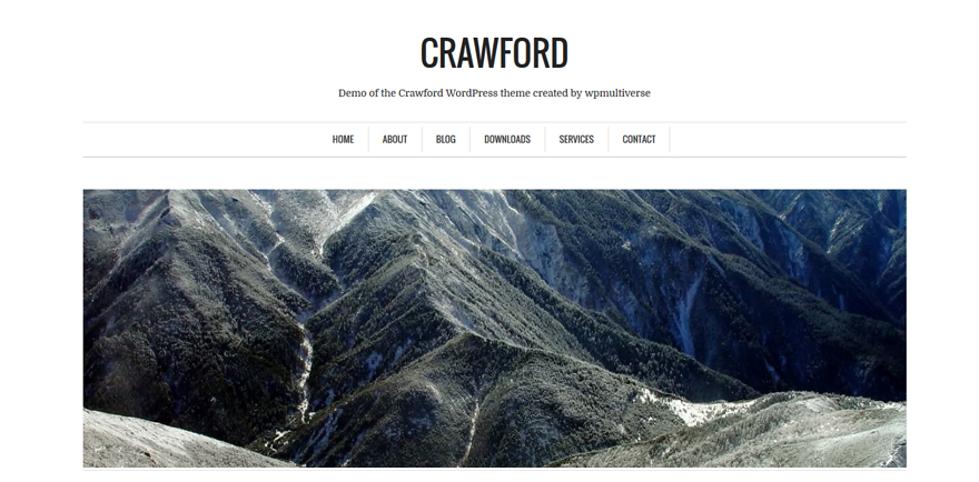 Crawford: A Free Minimalist WordPress Theme for Writers