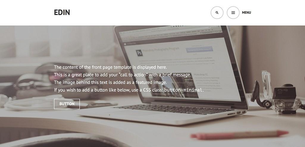 Edin: A Beautiful Free Business Theme for WordPress