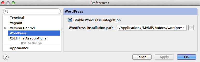 phpstorm-enable-wp-integration