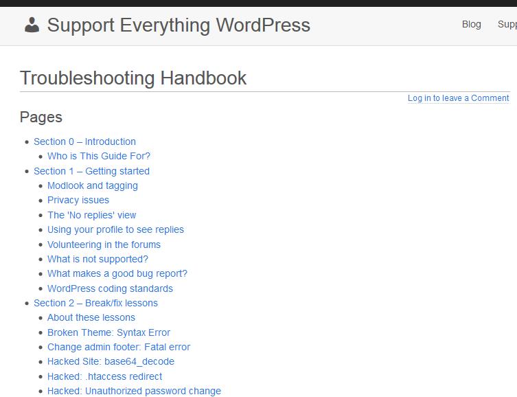 Troubleshooting Handbook Home Page