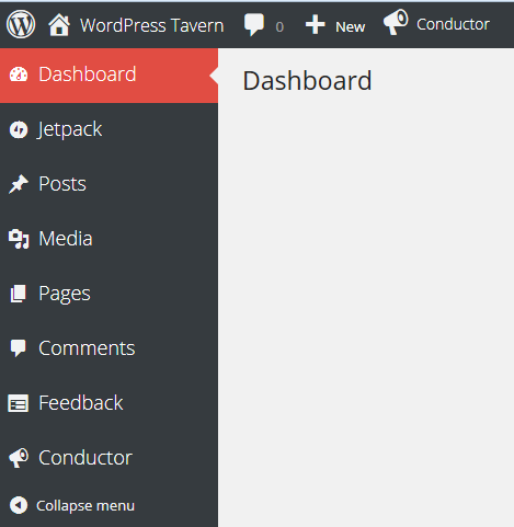 Admin Menu with Sync Stylesheet Enabled