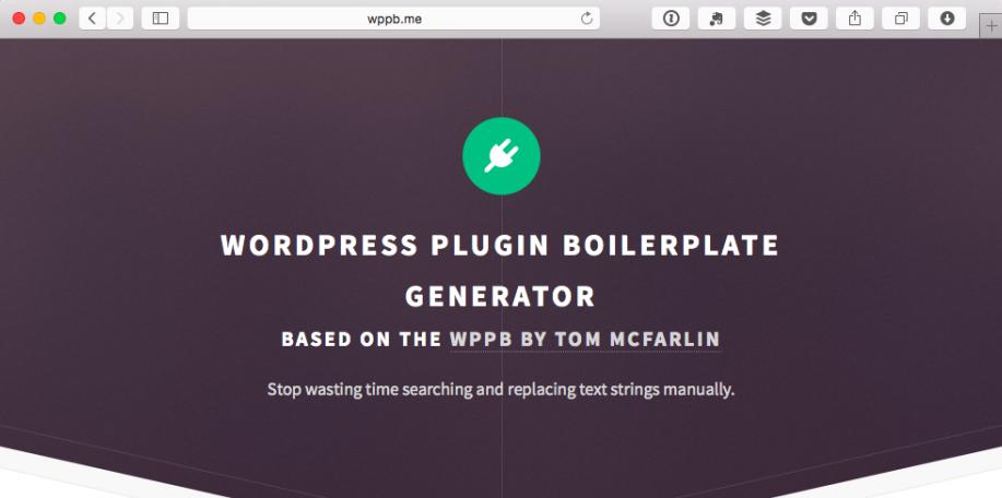 New WordPress Plugin Boilerplate Generator Speeds Plugin Creation