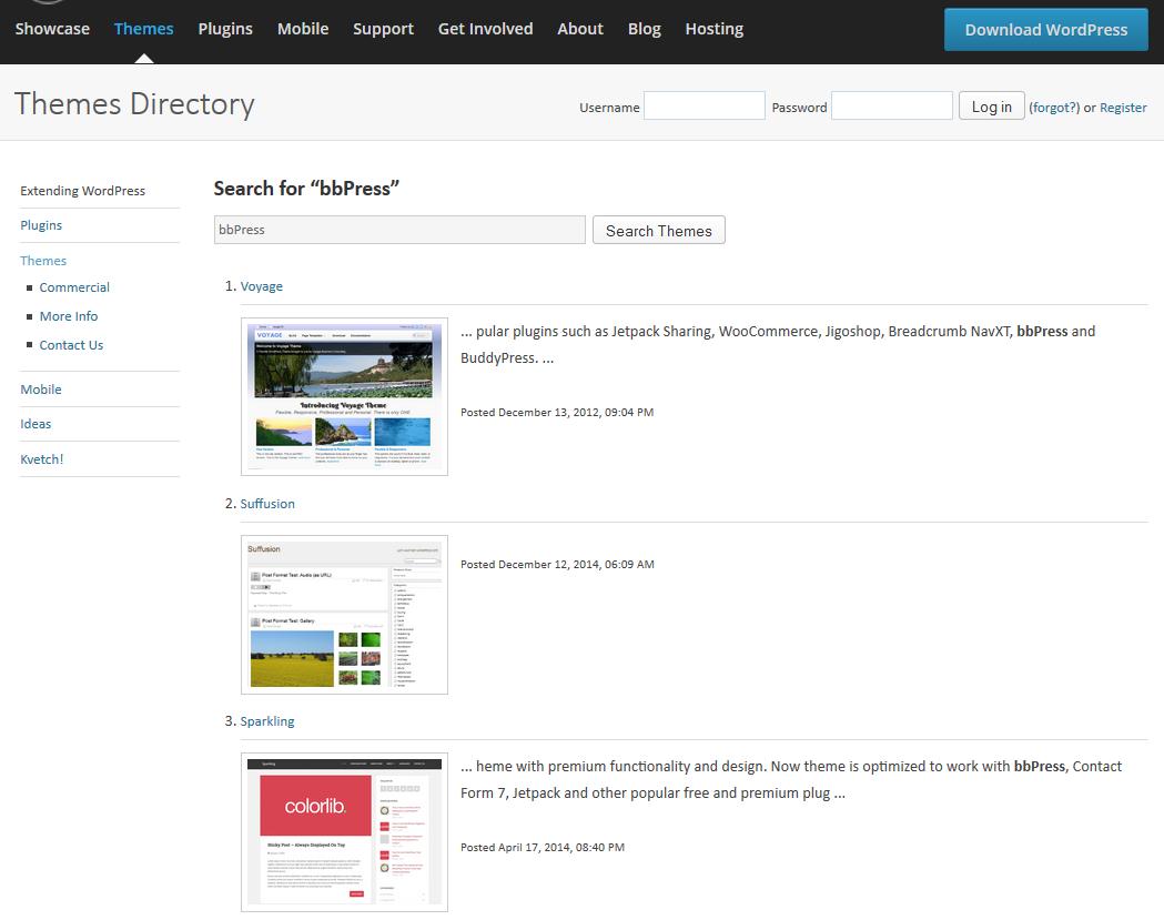 Free bbPress Compatible Themes