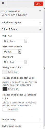 Customizer after Styleguide is Activated
