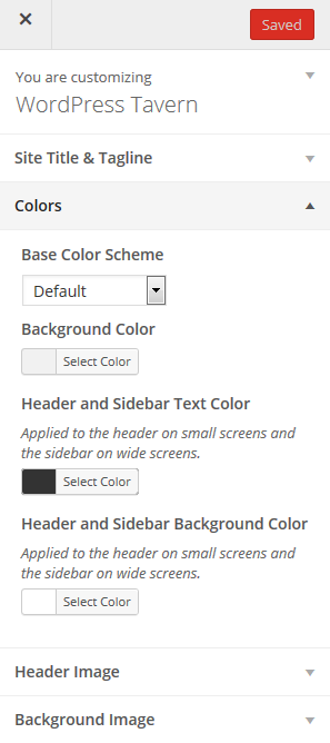 Customizer Before Styleguide is Activated