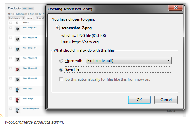 Plugin Screenshot Download Prompt