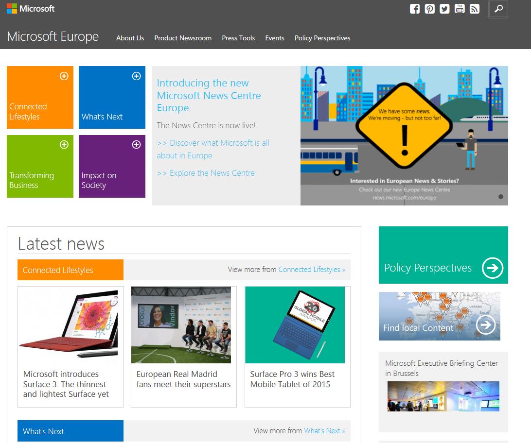 The new Microsoft Europe