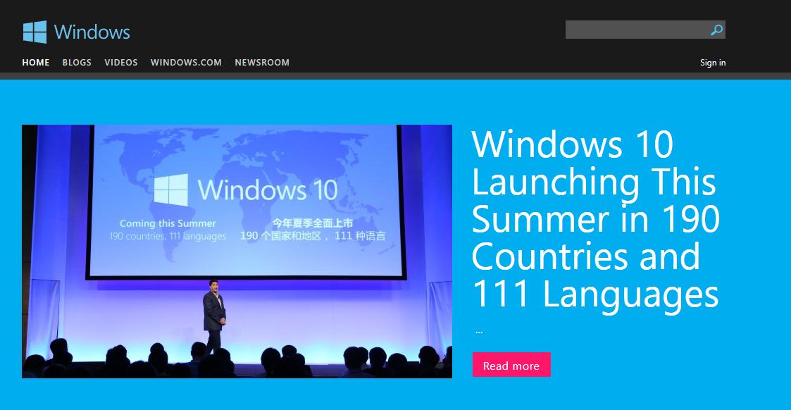 Microsoft Blogs uses WordPress Multisite