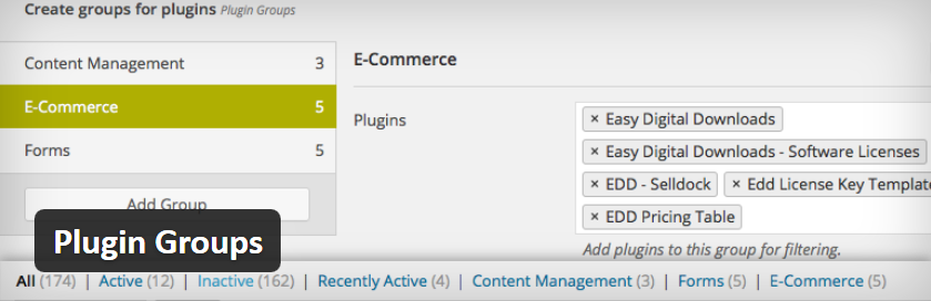 Group and Filter Plugins by Functionality with Plugin Groups by CalderaWP