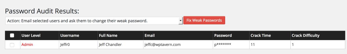 Weak Password Detected