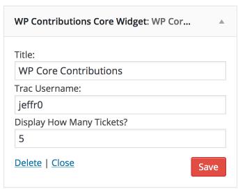 WP Core Contributions Widget