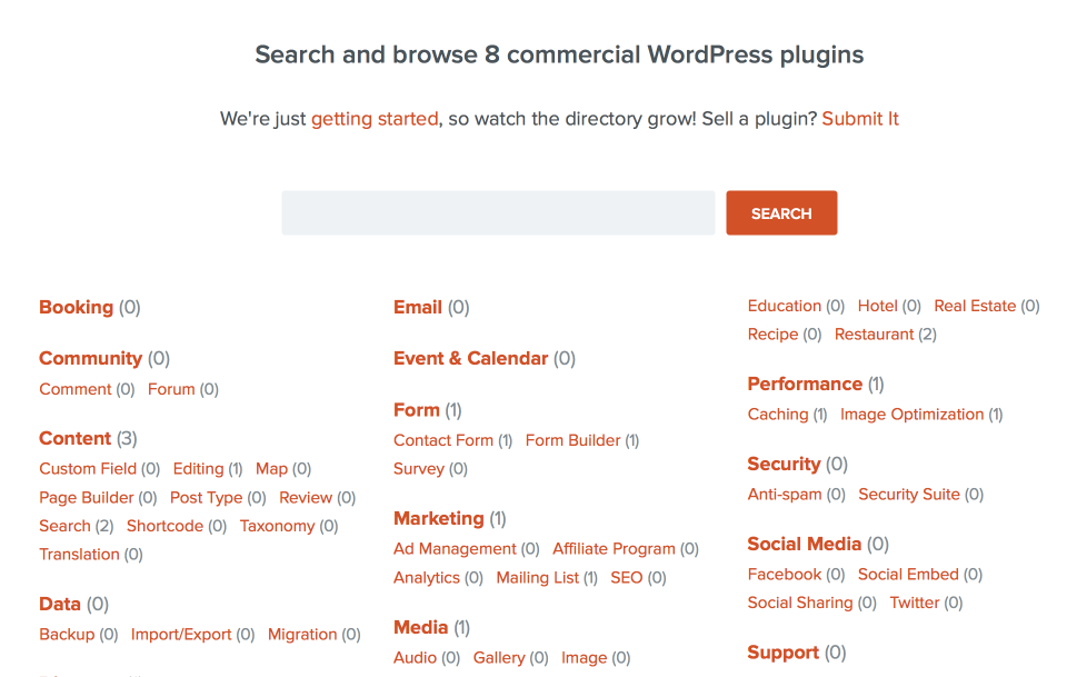 Pro Plugin Directory Home Page
