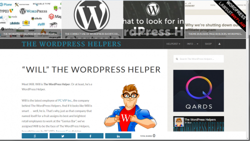 WordPress Helpers About Page