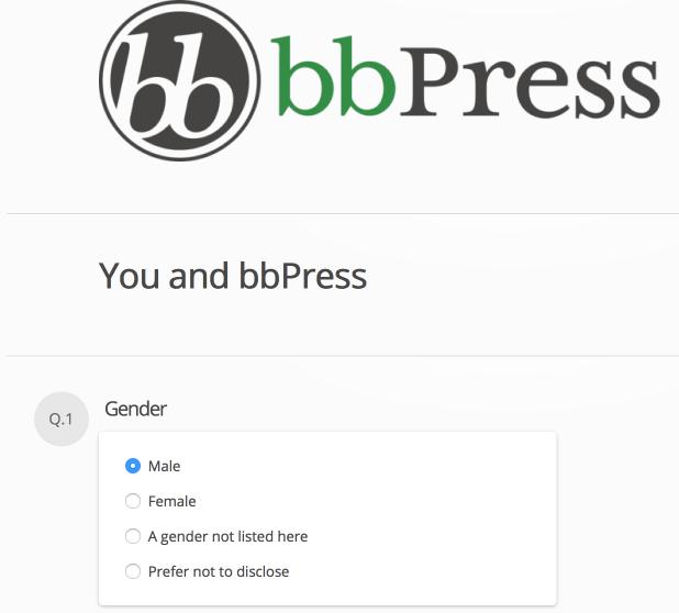 2015 bbPress Survey Questions
