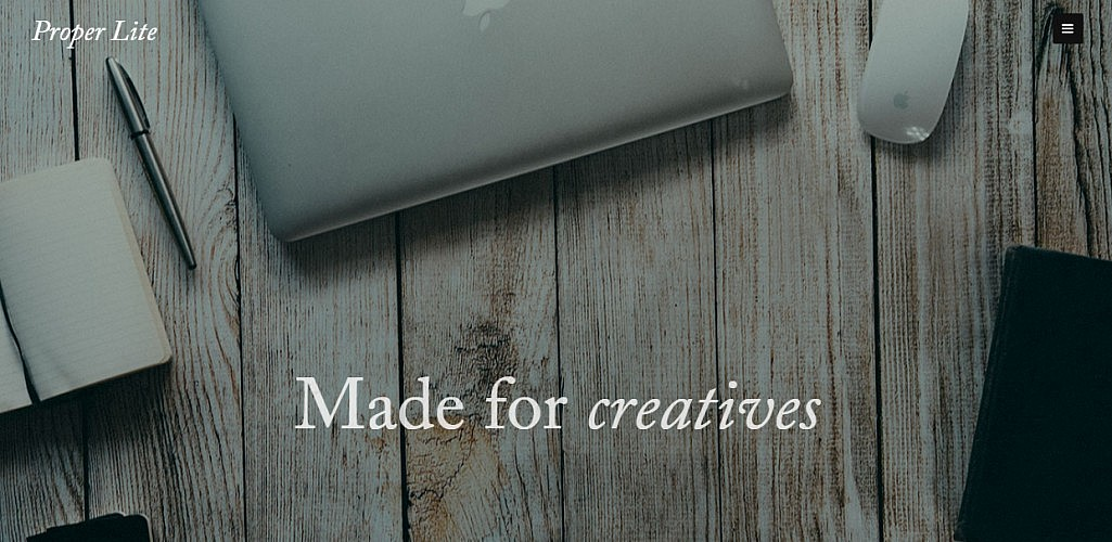 Proper Lite: A Free and Flexible WordPress Theme for Creatives