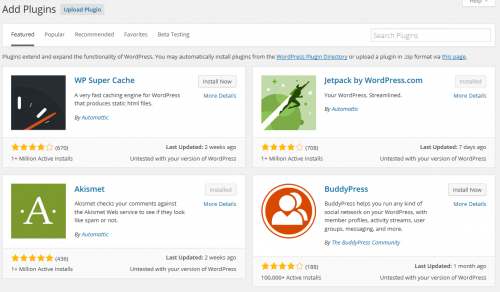Plugin Browser in WordPress 4.3