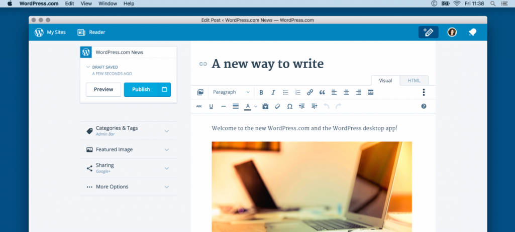 WordPress.com Open Sources Desktop App, Linux Version Now Available