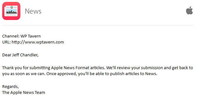 Apple News Publisher First Submission