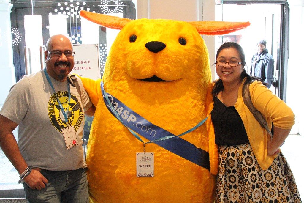 Giant Wapuu at WordCamp London