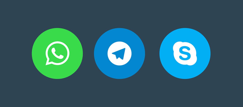 messaging-buttons