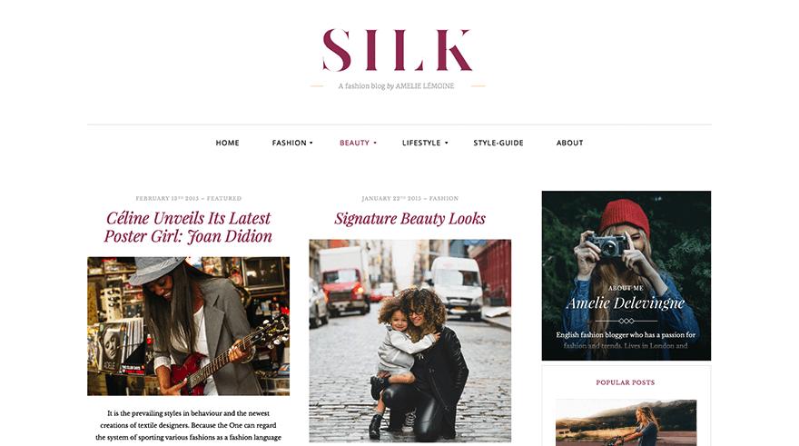 Silk Lite: A Free WordPress Magazine Theme for Fashion Bloggers