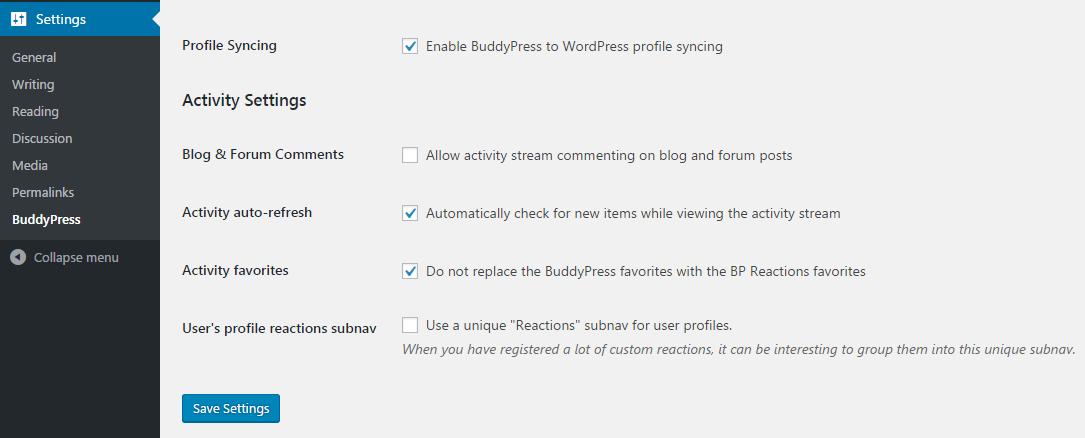 bp-reactions-settings
