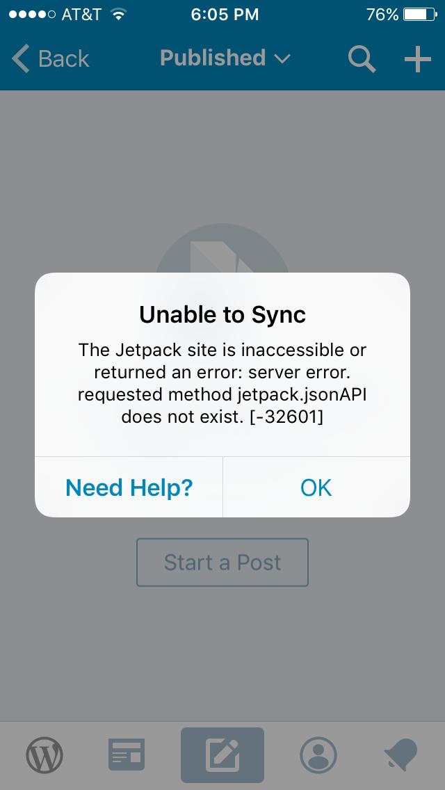 Jetpack SSL Sync Error