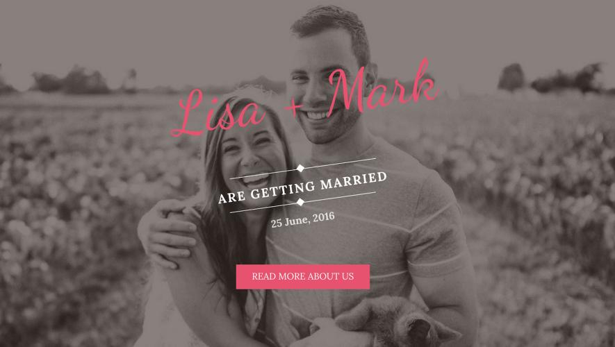 Wedding Bride: A Free One-Page WordPress Wedding Theme