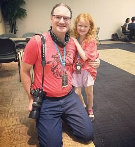 WordCamp OKC organizer Morgan Estes and daughter Joanna
