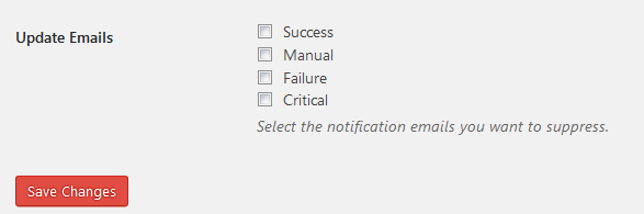 Core Control Email Settings