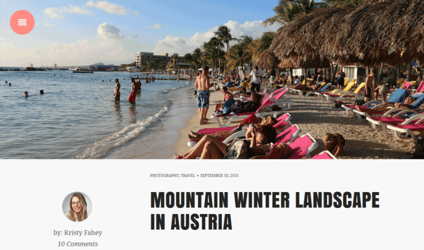 Snowbird: A Free WordPress Theme for Bloggers and Storytellers