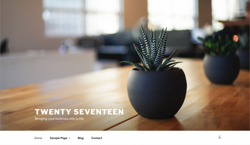 New WordPress Default Theme Twenty Seventeen Merged into 4.7